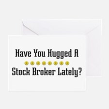 Hugged Stock Broker Greeting Cards (Pk of 10)