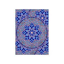 Blue Mandala 5'x7'Area Rug