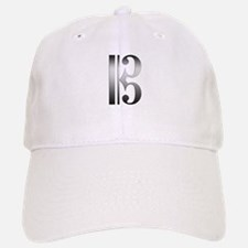 """Silver"" C Clef Baseball Baseball Cap"