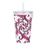 Pink Whimsy Acrylic Double-wall Tumbler