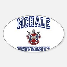 MCHALE University Oval Decal