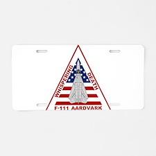 Cute Aardvark Aluminum License Plate