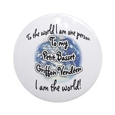 PBGV World2 Ornament (Round)