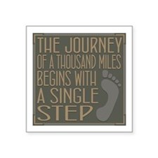 "The Journey Square Sticker 3"" x 3"""