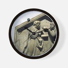 Relief. Plato and Aristotle. Renaissanc Wall Clock