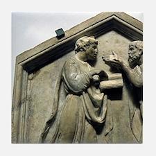 Relief. Plato and Aristotle. Renaissa Tile Coaster