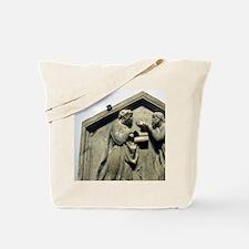 Relief. Plato and Aristotle. Renaissance. Tote Bag