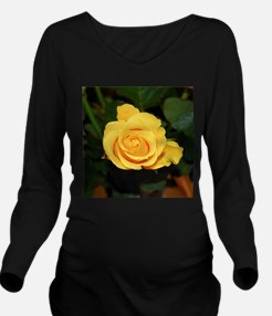 Cute Rose Long Sleeve Maternity T-Shirt