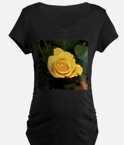 Rose yellow 001 Maternity T-Shirt