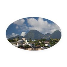 MARTINIQUE. French Antilles. West  Oval Car Magnet