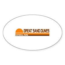 Great Sand Dunes National Par Oval Decal