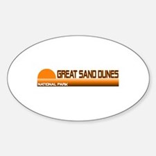 Great Sand Dunes National Par Oval Decal
