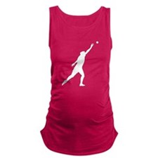 Shot Put Silhouette Maternity Tank Top