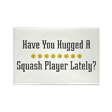 Hugged Squash Player Rectangle Magnet