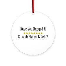 Hugged Squash Player Ornament (Round)