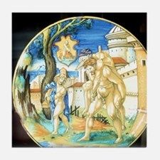 Aeneas carrying father Anchises and s Tile Coaster