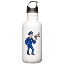 Policeman on the stree Water Bottle