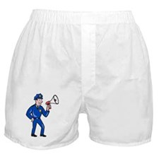 Policeman on the street Boxer Shorts
