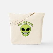 Alien Face Big Brother Tote Bag