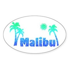Malibu (Ocean) Oval Decal