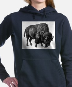 Vintage Bison Women's Hooded Sweatshirt