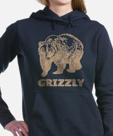 Vintage Grizzly Women's Hooded Sweatshirt