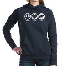 Peace Love Bear Women's Hooded Sweatshirt