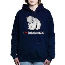 I Love Polar Bears Women's Hooded Sweatshirt