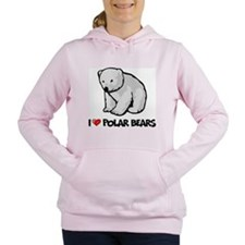 I Love Polar Bears Women's Hooded Sweatshirt