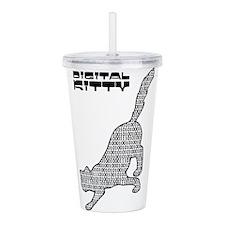 Digital Kitty Acrylic Double-wall Tumbler