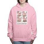 I Love Cats Women's Hooded Sweatshirt