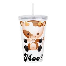 Moo Cow Acrylic Double-wall Tumbler