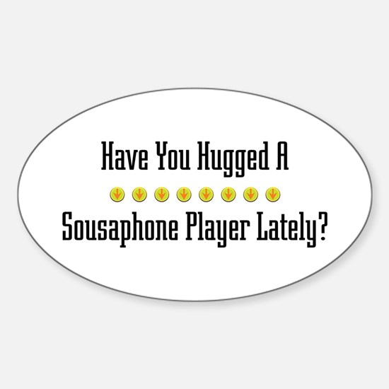 Hugged Sousaphone Player Oval Decal