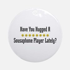 Hugged Sousaphone Player Ornament (Round)