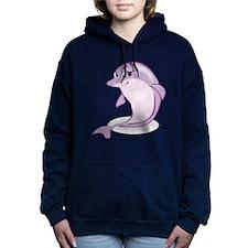 Cute Purple Dolphin Women's Hooded Sweatshirt