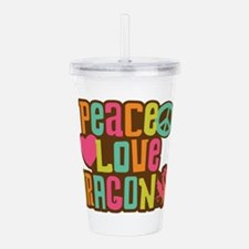 Peace Love Dragon Acrylic Double-wall Tumbler