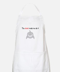 The shark made me do it BBQ Apron