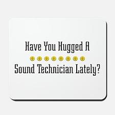 Hugged Sound Technician Mousepad