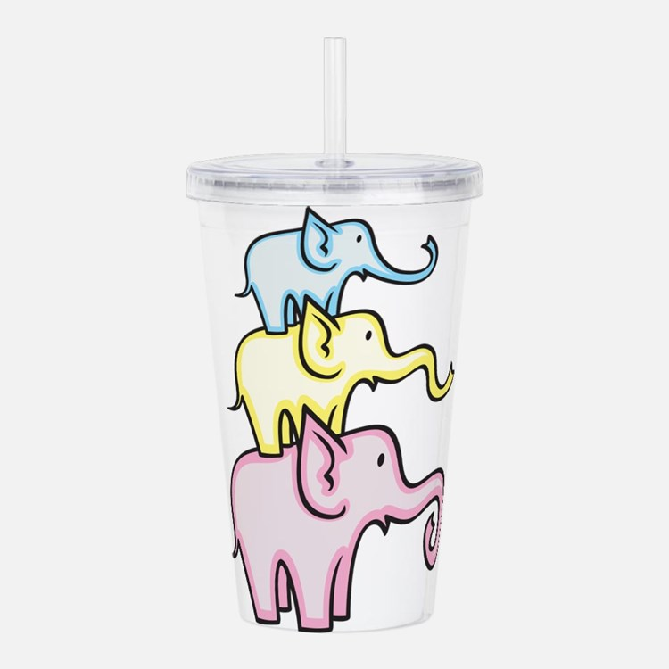 Elephants Acrylic Double-wall Tumbler