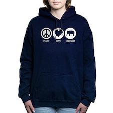 Peace Love Elephant Women's Hooded Sweatshirt