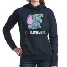 I Love Elephants Women's Hooded Sweatshirt