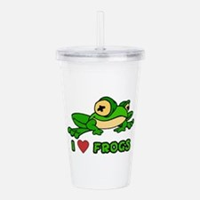 I Love Frogs Acrylic Double-wall Tumbler