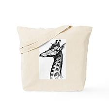 Hand Drawn Giraffe Tote Bag