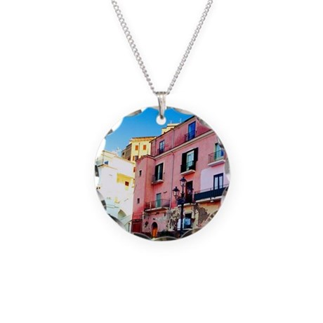 Fishing boats in sorrento i necklace circle charm by for Circle fishing boat