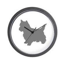 Cairn Terrier gray 1C Wall Clock