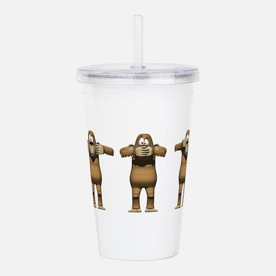 See No Evil Monkey Acrylic Double-wall Tumbler