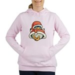 Christmas Penguin Women's Hooded Sweatshirt