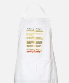 Trainer Quotes BBQ Apron