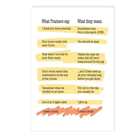 Trainer Quotes Postcards (Package of 8)