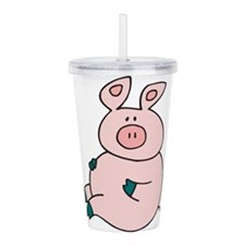 Cute Pig Acrylic Double-wall Tumbler